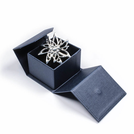 Edelweiss Anhänger in Silber mit Schatulle