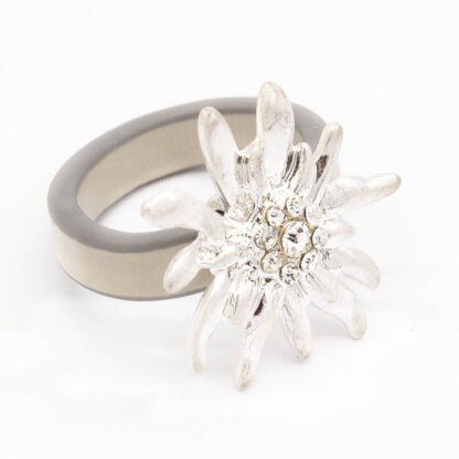 Ring with Edelweiss