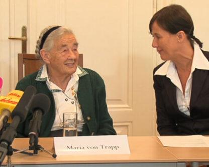 Press conference on the occasion of Maria von Trapp's visit to Villa Trapp Salzburg