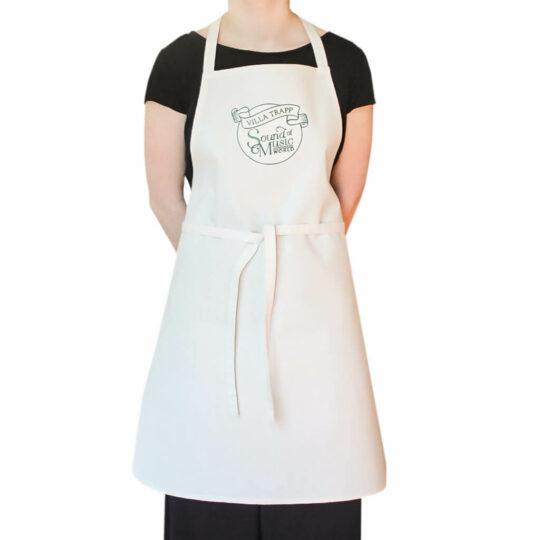 Küchenschürze, Kochschürze mit besticktem Logo