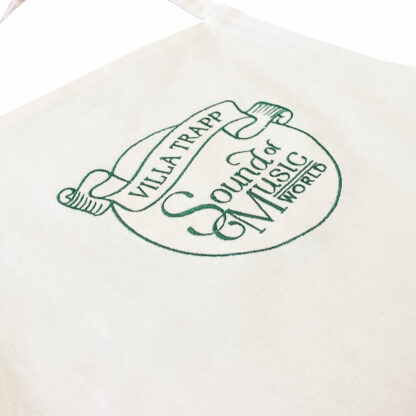 Apron embroidered with logo detail view
